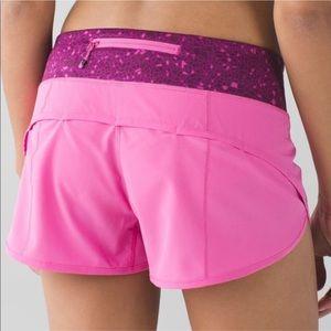 Lululemon Speed Shorts Pink